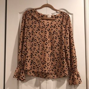 A New Day Leopard Top NWOT